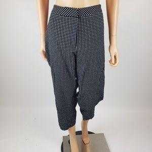 ✿❀ Talbots Black Dotted Capri Pants 16W  ❀✿